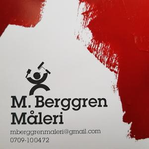 M Berggren måleri logo
