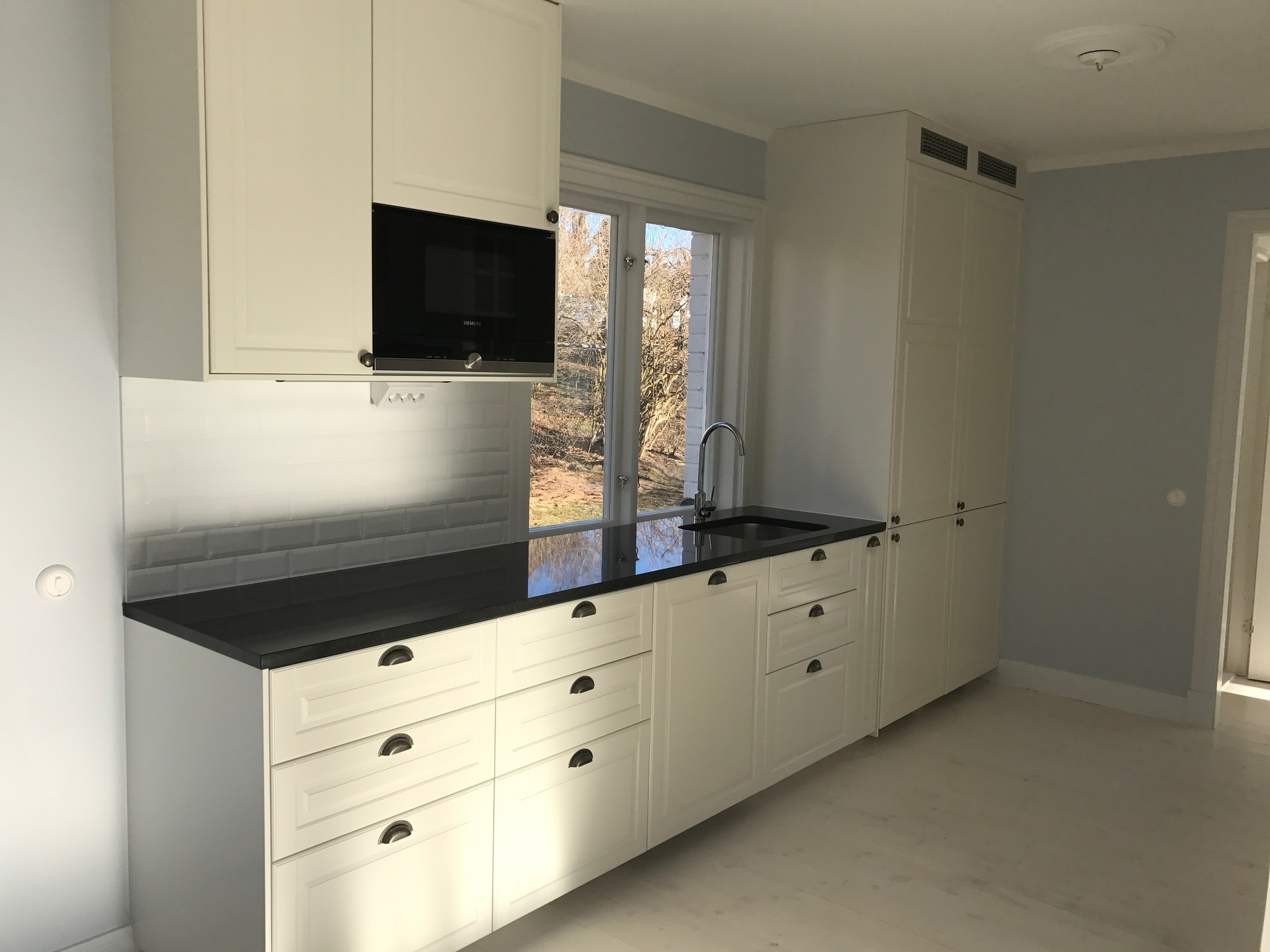 Uppbyggnad av  nytt kök i Sollentuna