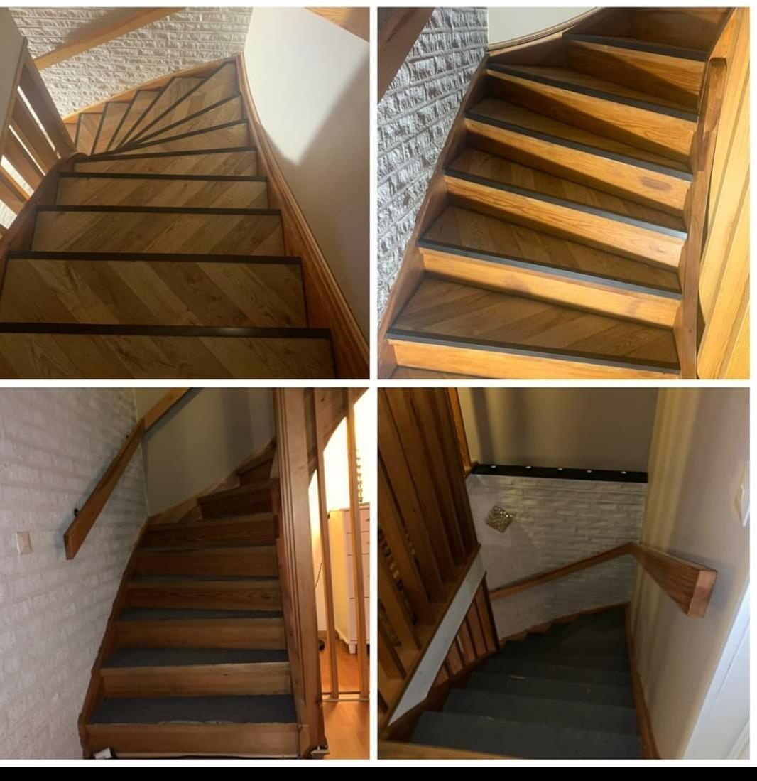 Renovering tvättstuga, och fixat trappa