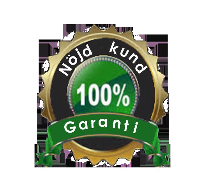 100% Nöjd Kund Garanti