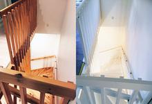 Målning va trappa i Bromma