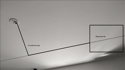Bild för uppdrag: Sätta upp en vanlig taklampa i Solna