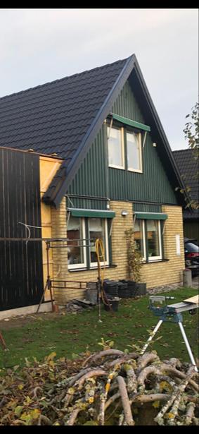 Bild för uppdrag: Målning av 2 st gavlar på huset i Staffanstorp