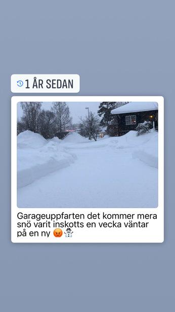 Bild för uppdrag: Snöröjning av garageuppfart i Söderhamn