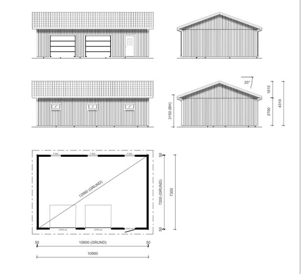 Bild för uppdrag: Bygga garaget på Ekerö
